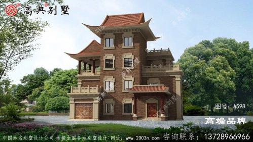 中式自建别墅效果图