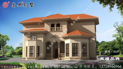 西班牙风格别墅设计图纸