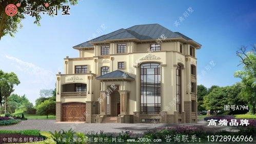意大利风格四层豪华别墅设计图