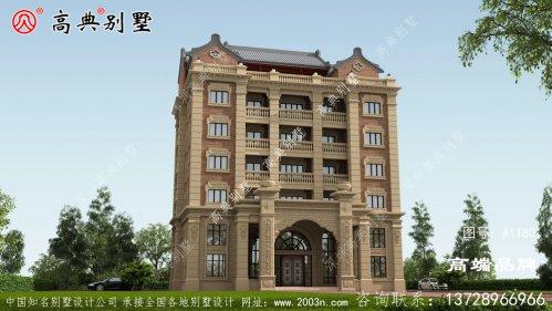 新农村中西合璧七层别墅设计