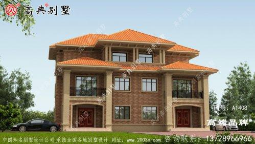 双拼三层别墅设计图