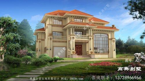 豪华大气三层复式别墅外观图片