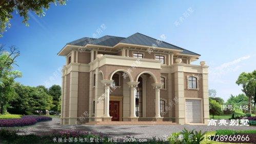 欧式自建三层复式别墅效果图