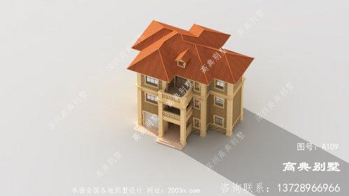 欧式简约三层别墅设计图纸