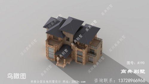 外观时尚大方的欧式风格三层别墅