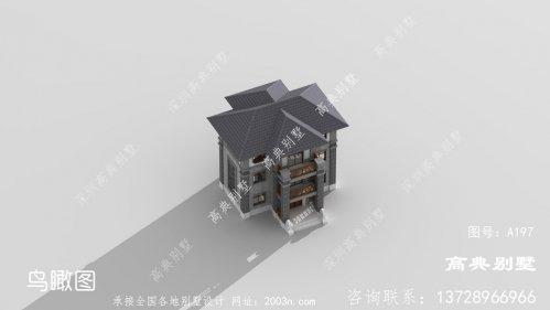 外观设计清新靓丽的中式别墅