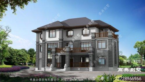 大气的农村新中式三层别墅