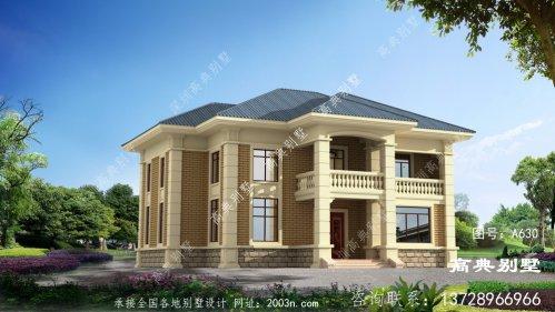 二层楼复式别墅设计图