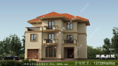 欧式风格三层别墅设计图纸