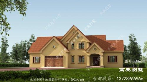 经典简欧式一层别墅设计图