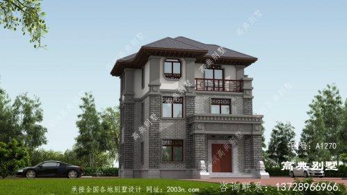 村里都建欧式,那么来栋不一样的中式