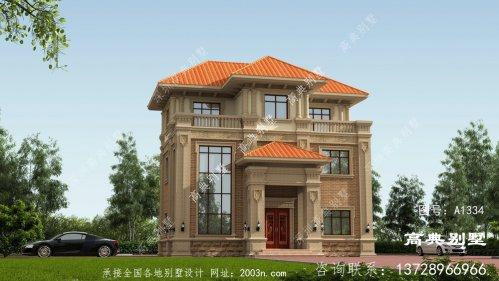 欧式风格复式三层别墅图纸设计