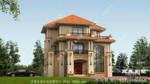 欧式风格三层优雅复式别墅外观设计效