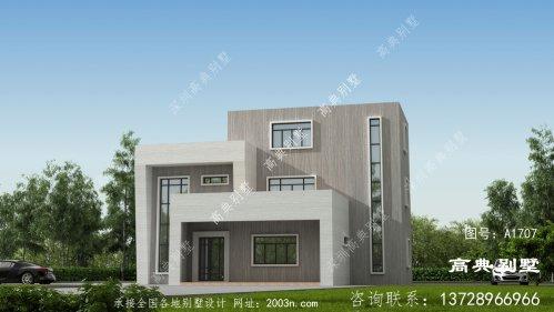 现代三层住宅设计图
