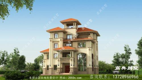 欧式尊贵四层复式别墅设计图纸
