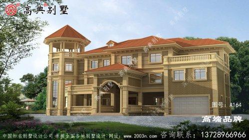 豪华大户型欧式三层别墅设计图