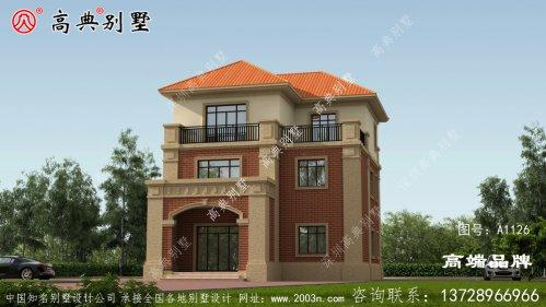 欧式风格三层别墅设计