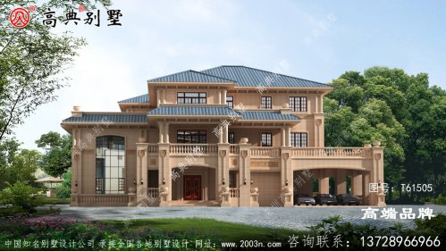 高端三层欧式别墅设计图纸及效果图