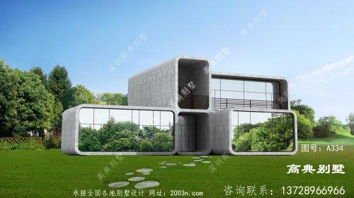 农村自建两层现代别墅住宅设计图