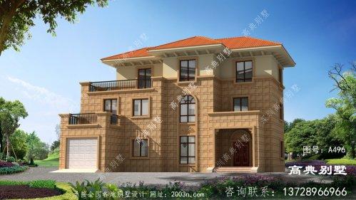 完美设计的欧式风格三层别墅效果图