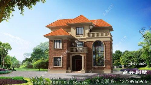 欧式风格三层复式别墅设计效果图