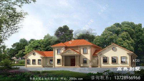 超豪华二层欧式风格复式别墅设计图