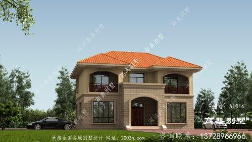 新农村欧式风格二层别墅自建房外观图