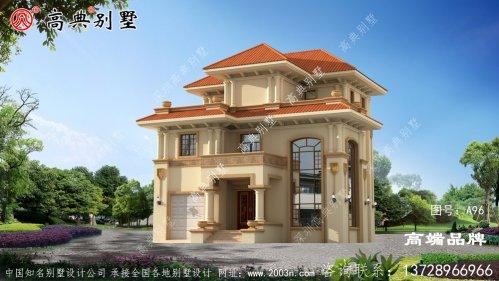 独幢乡村三层欧式古典自建别墅设计图
