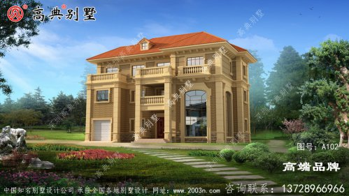 欧式自营住宅别墅设计图,拥有大露台