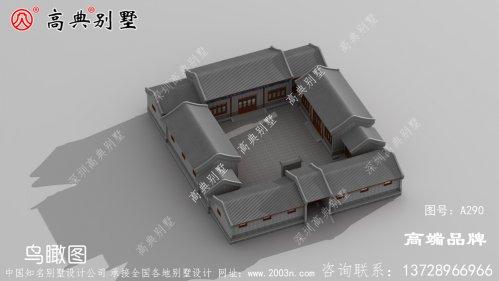 经典中式风格院子别墅设计图