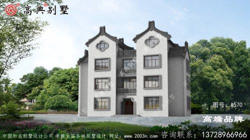引人注目的四层中式别墅效果图