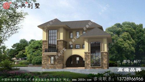 农村三楼别墅设计图,包括外观照片