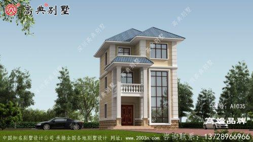 新农村自建小户型欧式风格三层别墅设