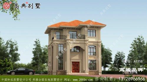 大气美观又有特色的欧式风格三层别墅