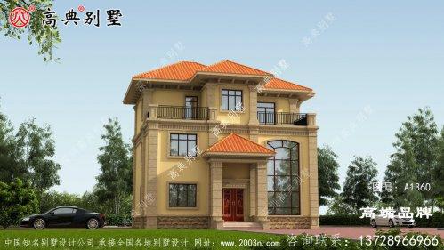 欧式风格三层舒适别墅设计图及效果图