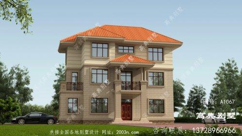 欧式风格三层高档别墅设计图