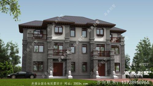 中式双拼三层别墅这样建,别致新颖
