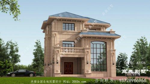 欧式风格三层石材别墅装修效果图大全