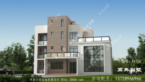 现代风格四层复式别墅设计图