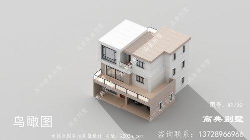 外观大气造价经济的现代风格平屋顶别