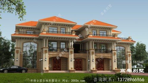 豪华欧式三层复式双拼别墅施工图及设