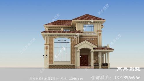 古典欧式风格三层别墅效果图