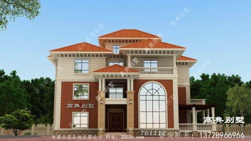 漂亮欧式风格四层别墅效果图