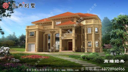 焦作市欧式风格经济实用的三层独栋别墅