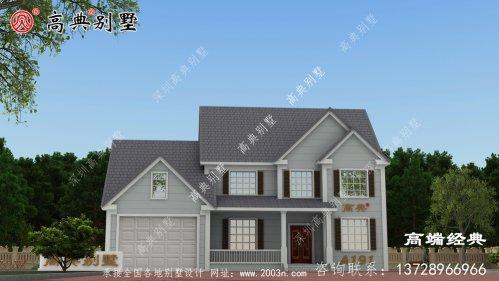 儋州市二层楼别墅设计图,造价45万,2