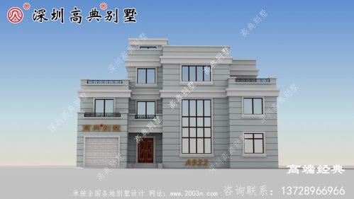 现代欧式风格自建别墅设计图,建筑非常