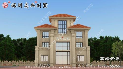 三层小楼设计图,生活方便舒适,造价