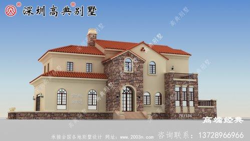 二层别墅,50万就能建,花最少钱的建最