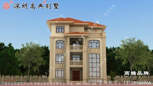 四层别墅设计图,回农村建别墅,也算是