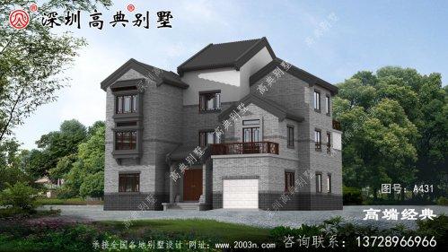 回乡盖栋新中式别墅,成为村里的王者